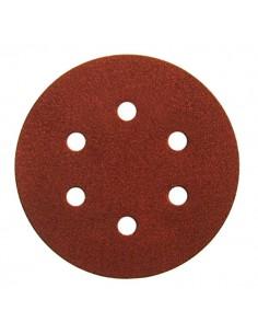 Disco velcro de 150 6 agujeros grano 80