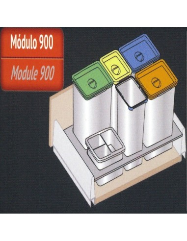 Cubo reciclaje 5 1 contenedor 90 ancho blum maquinaria - Cubos de reciclaje ...