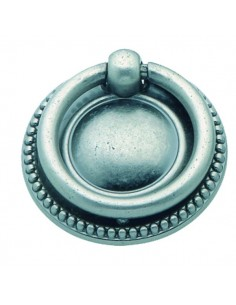 Tirador anilla LG182004089 plata antigua