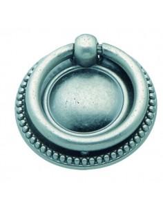 Tirador anilla LG182005089 plata antigua