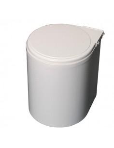 Contenedor basura 13L redondo blanco