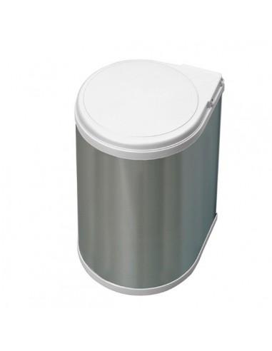 Contenedor basura 13L redondo inox.