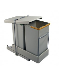 Contenedor basura EXT 8077221 2X14L gris