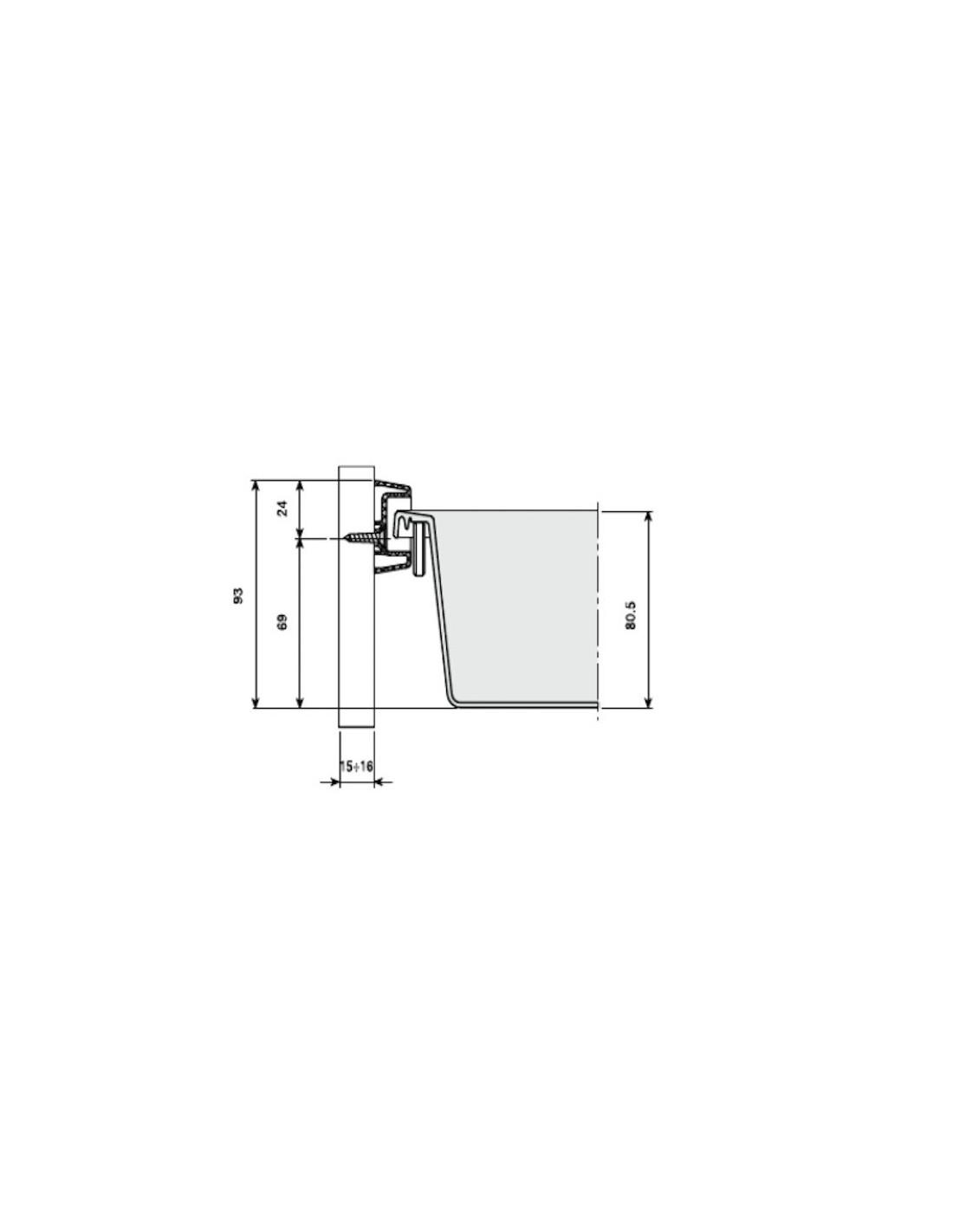 Caj n para m dulo 45 cm pvc gris con freno jos for Muebles de cocina 45 cm