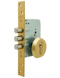 Cerradura de seguridad R101 esmaltado de entrada 50 embutida de 1 punto TESA.