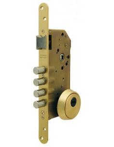 Cerradura de seguridad R200 laton, con bulones embutida de 1 punto TESA.