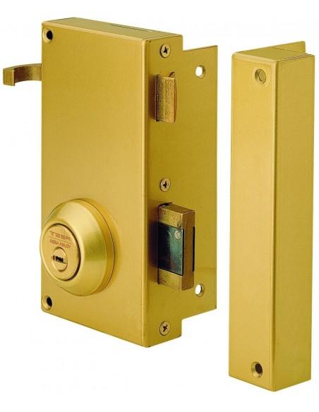 Cerradura de seguridad TS10RE derecha, acero esmaltado con bombillo graduable.