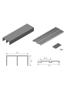 Kit Guía GSO-GI70 2-M Aluminio Blanco