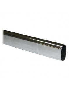 TUBO DE 30mm OVALADO CROMO 4 MTS
