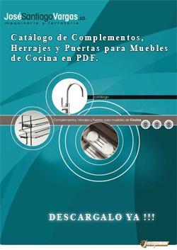 Catálogo de Complementos, Herrajes y Puertas para muebles de cocina en pdf