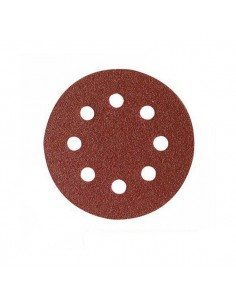 Disco velcro de 125 8 agujeros grano 80