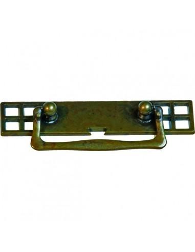Tirador asa con placa LG-190113080 Envejecido manchas