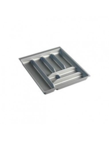 Cubertero para cajón de pvc gris. Módulo de 35 cm.