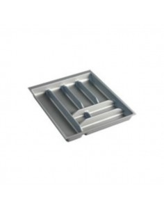 Cubertero para cajón de pvc gris. Módulo de 40 cm.