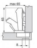 BISAGRA CLIP 71T6550 APERTURA 170º BLUM