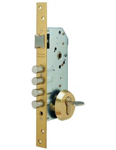 Cerradura De Seguridad R100 Esmaltado De Entrada 50 Embutida De 1