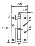 Pernio 403T de 110 Negro Derecho