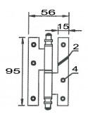 Pernio 403T de 95 Negro Izquierdo