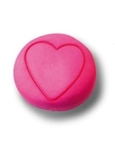 Pomo Rosa Con Corazón 5921-028 de 36 mm.
