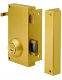 Cerradura de seguridad TS10T6 derecha, acero esmaltado.