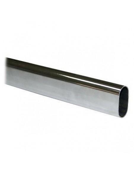 TUBO DE 30mm OVALADO CROMO 3 MTS