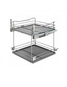 Verdulero para mueble de 40 cms ancho guía Blum