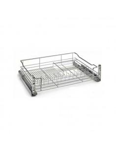 Escurreplatos-vasos extraible para mueble de 60 cms ancho con guía Blum