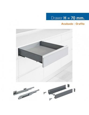 CAJON STYLE BOX 70x450mm GRAFITO