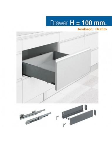 CAJON STYLE BOX 100x450mm GRAFITO