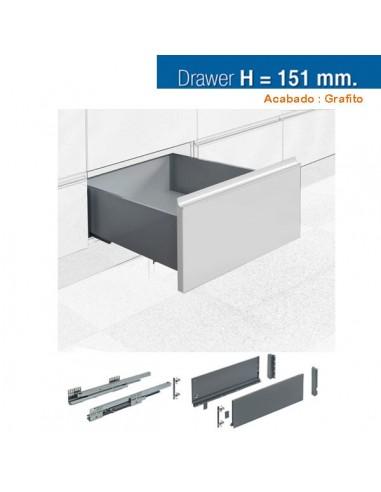 CAJON STYLE BOX 151x500mm GRAFITO